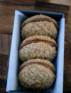 Oatmeal Nutella Cookie Sandwich. Oh. My. Goodness!!!