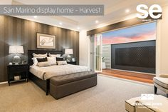 Love the decor in this Master Bedroom Suite. This is the San Marino display home by McDonald Jones. #displayhome #mastersuite #mcdonaldjones #luxury #bedroom #masterbedroom