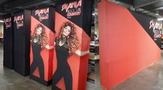 Shania Twain Rock This Country tour back wall VBurst pop up displays