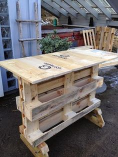 This very next interesting recycling idea of wood pallet is taking you into the creative designed pallet table desk, chair, cabinets #WoodenPalletFurniture #WoodenChair #DIYTable #DIYCabinets