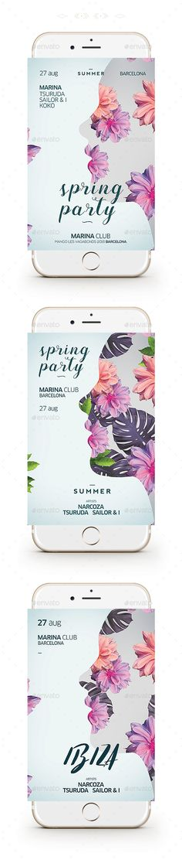 Spring Flyer — Photoshop PSD #spring break #sexy • Download ➝ https://graphicriver.net/item/spring-flyer/19364954?ref=pxcr