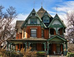 The revived Gothic style wasn't restricted to architecture. Tidy lines and commercial products are characteristics of modern-day architecture, no matter how the design isn't restricted … Victorian Home Decor, Victorian Style Homes, Victorian Houses, Victorian Era, Edwardian Era, Victorian Ladies, Victorian Architecture, Architecture Plan, Abandoned Houses