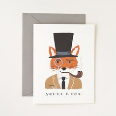 You're A Fox Card 8 Pack by Rifle Paper Co., $16, now featured on Fab.