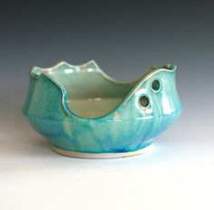 Handmade Ceramic Bowl. Interesting lines.
