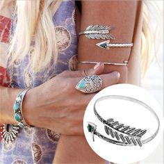 Bohemian Ethnic Upper Arm Arrow Bracelet