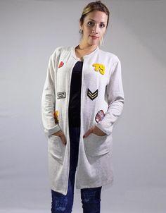 Tapado Beige Parches (Ana Reina) $799.00 Tapas, Jackets, Fashion, Patches, Wraps, Down Jackets, Moda, Fashion Styles, Fashion Illustrations