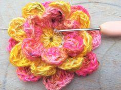 Watch The Video Splendid Crochet a Puff Flower Ideas. Phenomenal Crochet a Puff Flower Ideas. Crochet Puff Flower, Crochet Flower Tutorial, Crochet Flowers, Thread Crochet, Crochet Crafts, Crochet Yarn, Free Crochet, Yarn Crafts, Crochet Ideas