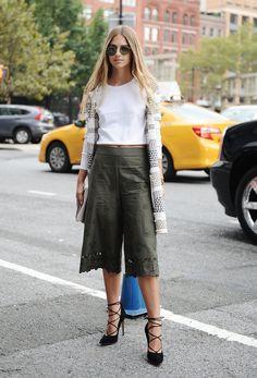New York Fashion Week, Day 4: Talita Von Furstenberg wearing DVF.