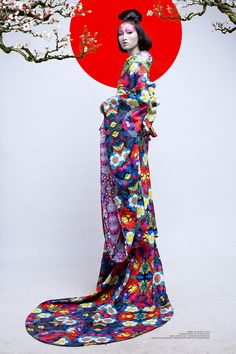 Yoshakoi on Fashion Served. Geisha inspired editorial.
