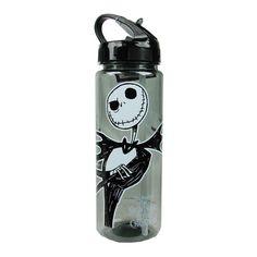 The Nightmare Before Christmas Jack Skellington 20 oz. Tritan Water Bottle Silver Buffalo Nightmare Before Christmas Water Bottles