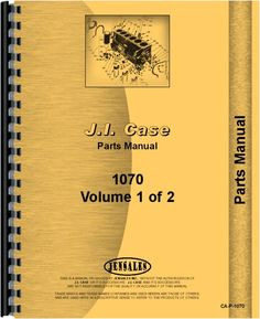 Case 1070 Tractor Parts Manual