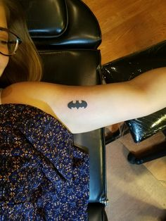 Small Batman Logo Inner Arm