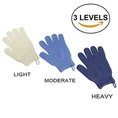 EvridWear Exfoliating Dual Texture Bath Gloves for Shower, Spa, Massage and Body Scrubs, Dead Skin Cell Remover, Gloves with hanging loop Gloves Not 3 pair) Exfoliating Gloves, How To Remove, Spa Massage, Pairs, Body Scrubs, Bath, Texture, Dead Skin, Amazon