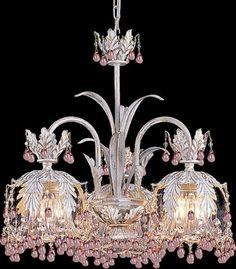 Pink Paris chandelier