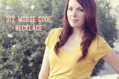 DIY Morse Code Necklace