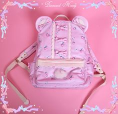 Diamond Honey -Strawberry Bear- Lolita Backpack