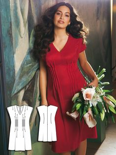 Dress with Pin Tucks (Plus Size) 07/2011 #burdastyle #sewing #sewingpattern #diy #sew #dresspattern #garmentsewing