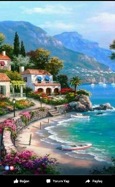 Buy The Mediterranean Sea - DIY Paint By Number kit or check our new modern collections for adults paint by numbers. Relax and enjoy your canvas painting Simple Oil Painting, Oil Painting On Canvas, Diy Painting, Learn Painting, Acrylic Canvas, Mediterranean Paintings, Mediterranean Sea, Seascape Paintings, Landscape Paintings