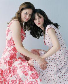 Emily and Zooey Deschanel, sisters, actors
