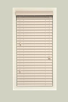 CustomMade Faux Wood Horizontal Window Blinds 2 Inch Slats Pearl White Light Ivory Inside Mount >>> Continue to the product at the image link.