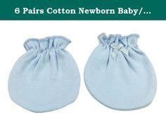 6 Pairs Cotton Newborn Baby//infant No Scratch Mittens Gloves Solid Pink