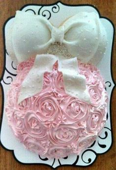Baby Shower Cake Idea. This would be great for me if it was blue lol