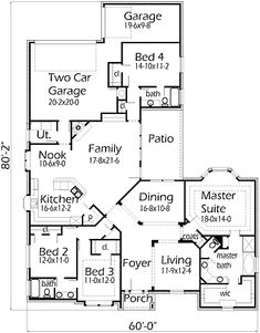 House Plans by Korel Home Designs I like that there is a good size room separate from the other bedrooms and laundry room for my mom. Extend the kitchen, don't need nook, even widening the laundry room would be great.