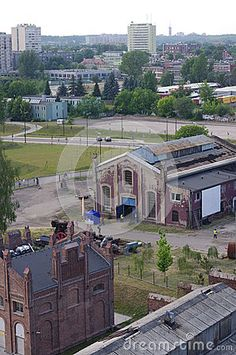 """Aerial view of a closed coal mine """"Katowice"""" in the district of Bogucice. with the view of apartment buildings of Katowice's district Koszutka. Picture taken June 2015 Poland Travel, Coal Mining, Krakow, Best Cities, Aerial View, Buildings, Beautiful Places, June, Mansions"""