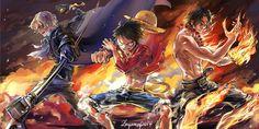 Anime One Piece  Portgas D. Ace Monkey D. Luffy Sabo (One Piece) Anime Fondo de Pantalla