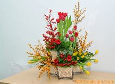 Resultado de imagen de cách cắm hoa