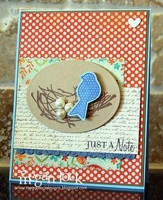 Megan Lock Designs, beautiful bird card