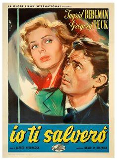 SPELLBOUND -1945 - Italian release poster - Art by Angelo Cesselon