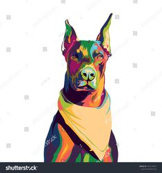 Find Doberman Slayer Colorful Pop Art Illustration stock images in HD and millions of other royalty-free stock photos, illustrations and vectors in the Shutterstock collection. Thousands of new, high-quality pictures added every day. Pop Art Illustration, Colorful Animals, Arte Pop, Doberman, Scooby Doo, Royalty Free Stock Photos, Batman, Superhero, Dogs