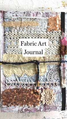 sewing Journals albums gifts, Lace 2 inches wide