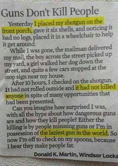 They don't kill
