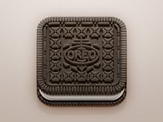 Even when changing the all well known shape of an oreo, the other factors still create the same effect of remembering an oreo even in a square form.
