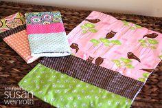 Burp Cloths DIY at http://www.fiskarscraft.com/projects/t_baby-burp-cloth.aspx