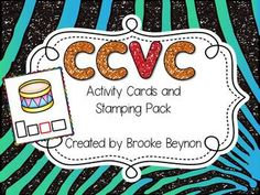 CCVC Words Activity Cards and Stamping Pack $