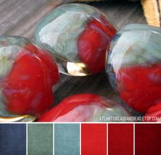 Art Bead Scene Blog: Best of ABS-Art Bead Color Palette #1.  Love the cool colors with the reds.