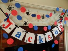Spider hombre fiesta decoraciones Spiderman por anyoccasionbanners
