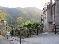 A beautiful view of the valley surrounding Conflenti, Calabria, Italy.