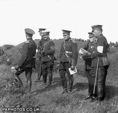 Churchill at the Aldershot army manoeuvres, 1910