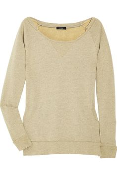 Bassike Cotton-terry sweater - 60% Off Now at THE OUTNET