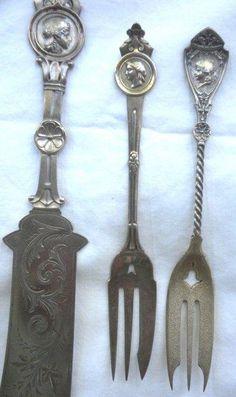 "Gorham Nuremberg Sterling Silver Demitasse Spoon Lady Cat GW 4 1//8/"" No Mono"