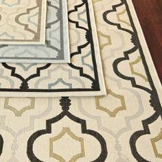 LOVE these Rugs!  Saybrook Indoor/Outdoor Rug | European-Inspired Home Furnishings | Ballard Designs