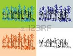 american pine forest illustration - Google Search