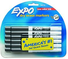 EXPO 86001 Low Odor Dry Erase Marker Dry Erase Markers, School Supplies, Art Supplies, Classroom Organization, Packing, Top, Class Room, March, Play