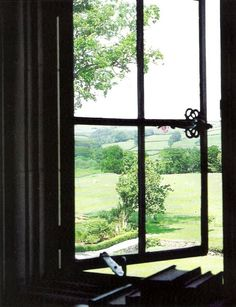 Iron Window View of Countryside Window View, Open Window, Iron Windows, Windows And Doors, Looking Out The Window, Through The Window, Jolie Photo, Country Life, Country Estate