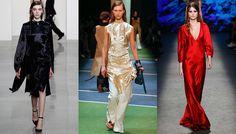 Tendance mode automne-hiver 2016-2017 robes en satin
