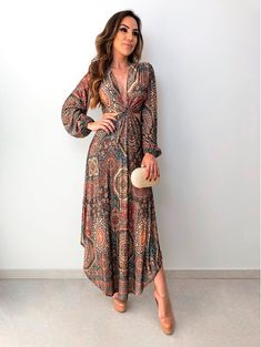 Vestido Cropped Parque Etnico Fashion Fabric, Boho Fashion, Fashion Dresses, Cute Dresses, Casual Dresses, Summer Dresses, Floral Maxi Dress, Boho Dress, Formal Attire For Women
